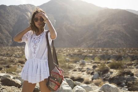 Aimee Song White Zimmermann Dress Chanel Girl Bag Chloe Dafne Sunglasses