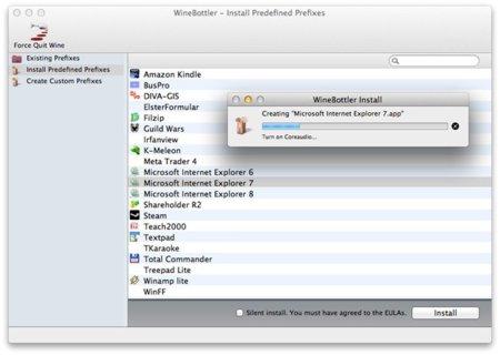Cómo instalar Internet Explorer y otras aplicaciones de Windows directamente en Mac OS X con WineBottler