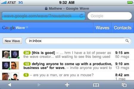 Google Wave tendrá su aplicación oficial para iPhone