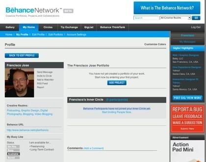 Behance Network, red social de portafolios para profesionales creativos