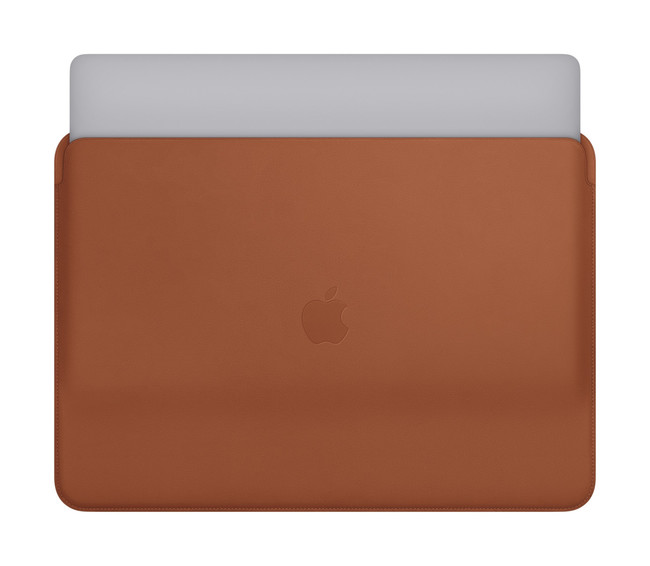 Mbp Saddle Brown Leather Sleeve quince Print