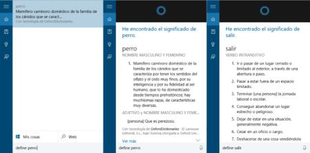 Cortana Define