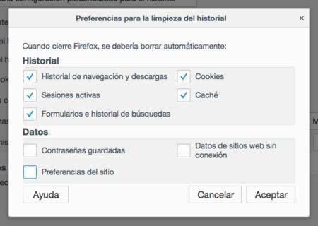 Firefox Limpieza