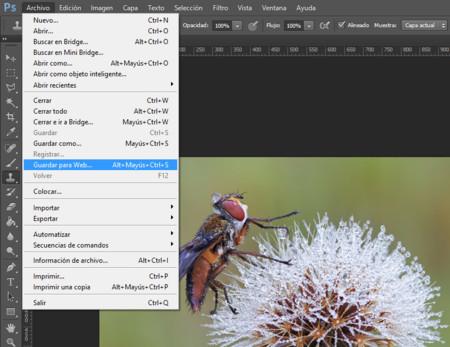 Guardar para web en Adobe Photoshop CC