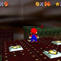 Super Mario 64: cómo conseguir la estrella Elevate for 8 Red Coins de Hazy Maze Cave