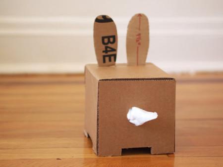 Cardboard Tissue Box Bunny Back