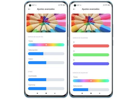 Xiaomi Mi 11 Ajustes Pantalla Color