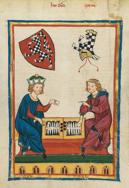 14th Century Painting Backgammon