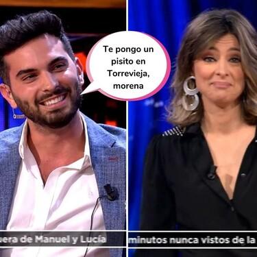 El tonteo descarado de Sandra Barneda que ha conseguido poner rojo a Suso (¡y con Nagore mirando!) en 'El Debate de las Tentaciones'
