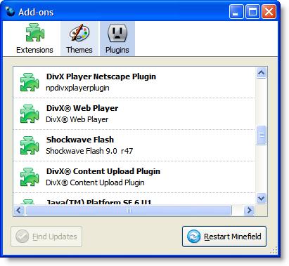 Plugins en Firefox 3