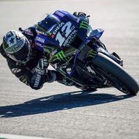Maverick Viñales se quedó sin frenos en la Yamaha y se tiró de la moto, que acabó en llamas, a más de 200 km/h