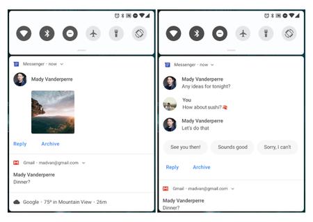 Android P Notificaciones Mejoradas