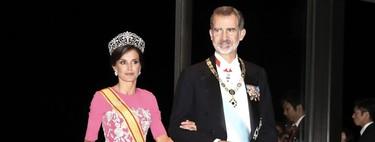 El look de la reina Letizia en Japón deslumbra en la cena de gala en honor del emperador Naruhito
