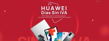 Tabletas desde 90 euros, smartphones por 138 euros y portátiles, smartwatches o auriculares con descuento: las mejores ofertas de los Días sin IVA Huawei