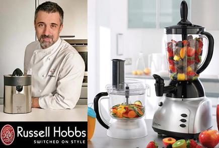 Russell Hobbs y Sergi Arola se unen para ofrecernos... ¿un exprimidor, una batidora?