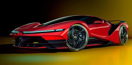 El Ferrari F42 es una recreación sobre cómo sería el próximo superdeportivo híbrido con guiños al mítico F40