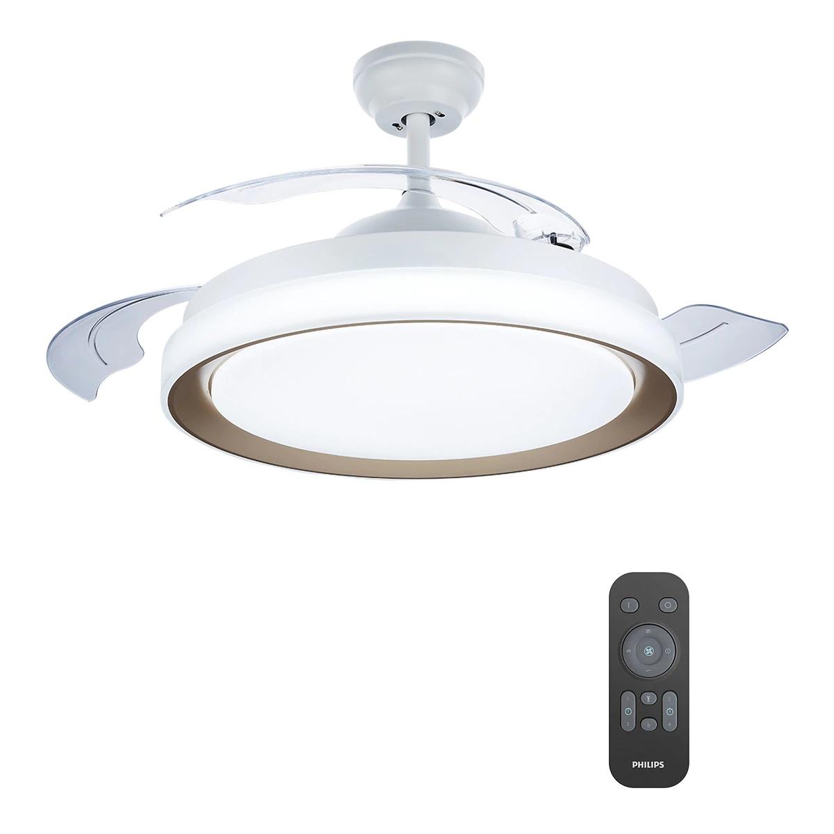 Ventilador de techo retráctil con luz LED integrada Bliss Philips
