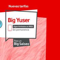 Triple mejora en Big Yuser de Vodafone: más gigas, más velocidad de fibra y pass más baratos