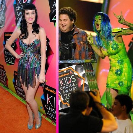 Las celebrities se pringan en los Kids' Choice Awards 2010