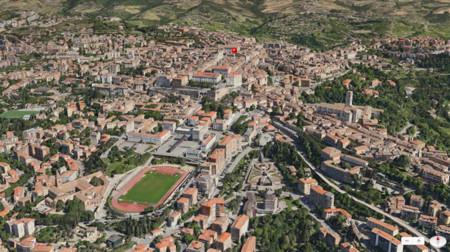 Vista Flyover de los Mapas de Apple (Perusa)