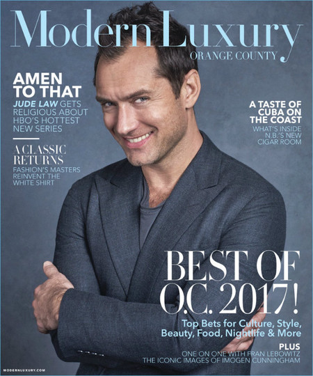 Jude Law 2017 Modern Luxury Cover
