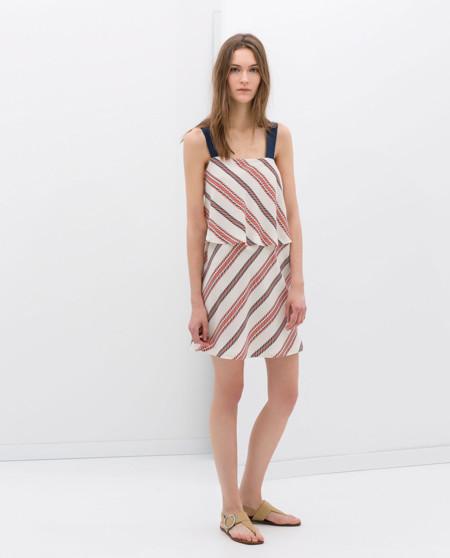 Rayas Vestido de Zara