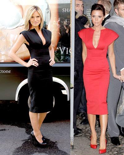 Vestido de Victoria Beckham: ¿Victoria o Heidi?