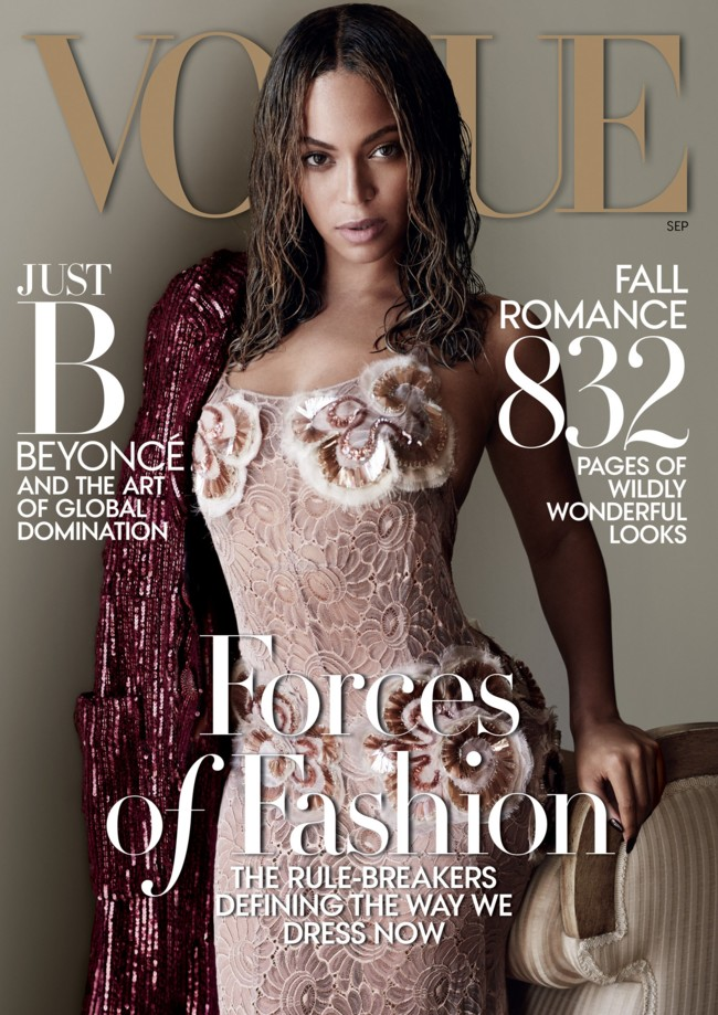 Us Vogue September 2015beyonce By Mario Testino
