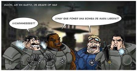 Imagen de la semana: el complejo guión de 'Gears of War 3'