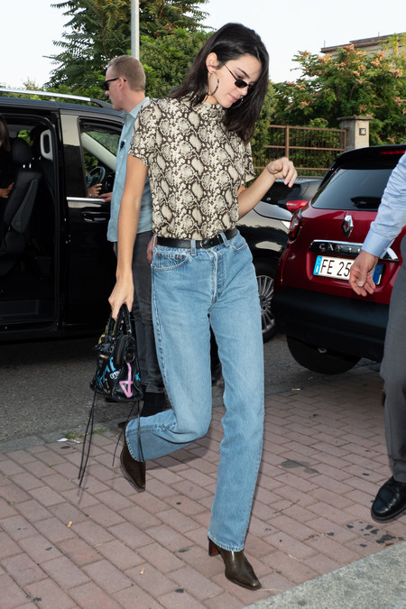 Kendall Jenner street style mfw