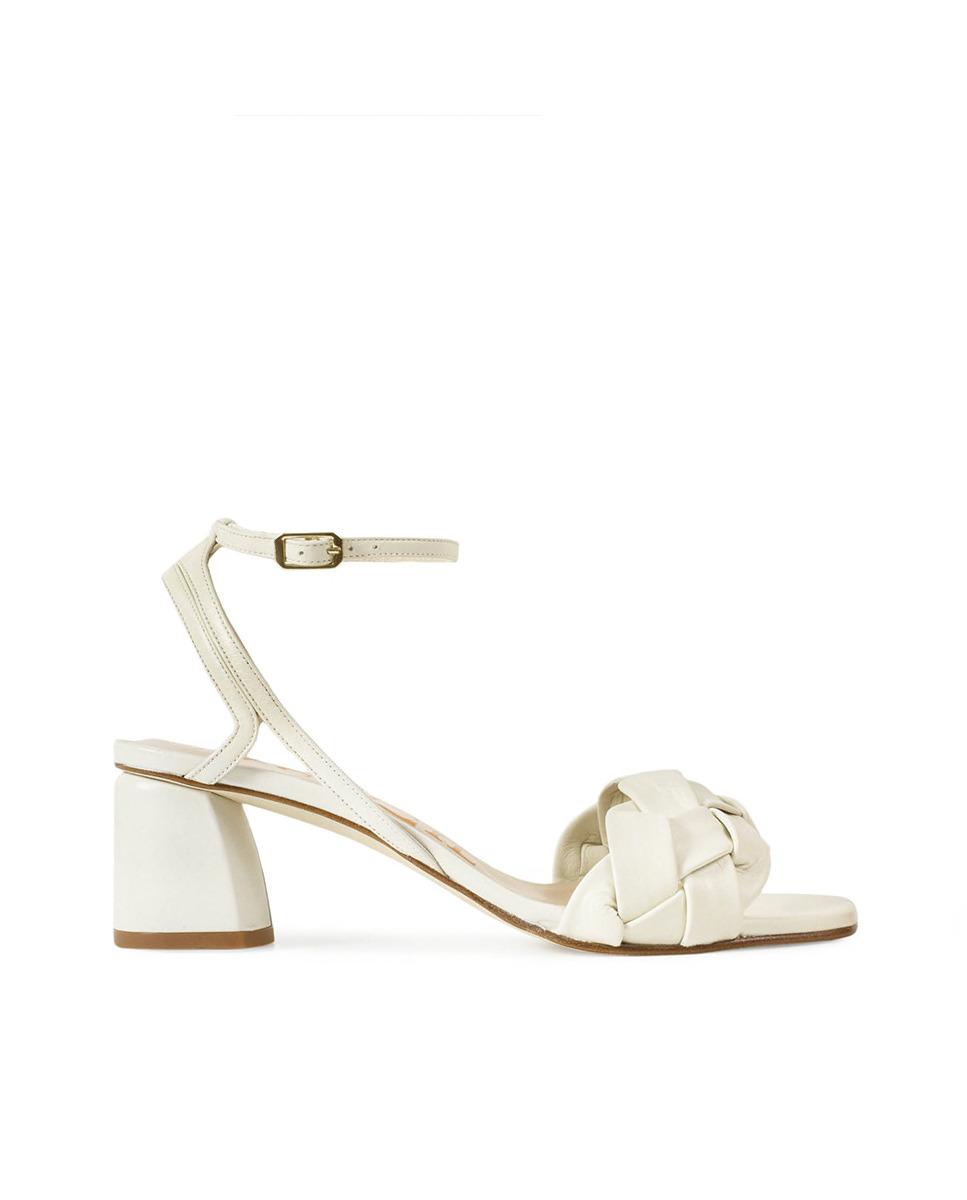 Sandalias de tacón de mujer Paco Gil de piel en color blanco