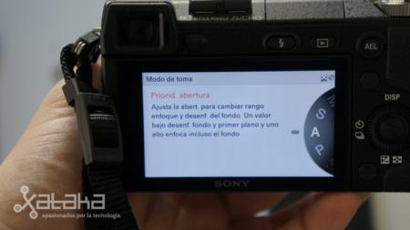 Sony NEX 6 análisis pantalla indicaciones