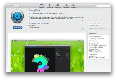 DaisyDisk otro buen software que pasa por la Mac App Store