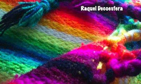 Asientos tapizados con mantas bolivianas