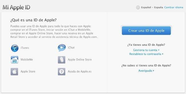 apple id cuenta de usuario