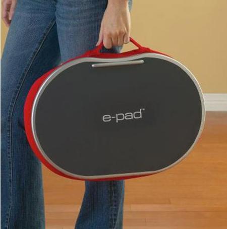 e-Pad, soporte-escritorio portátil