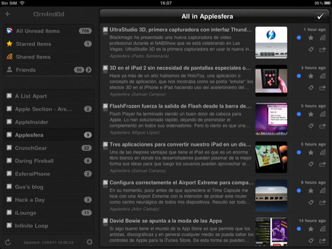 Foto de Lectores RSS para el iPad (10/20)