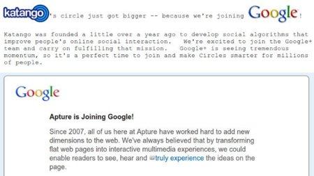 Google compra Apture y Katango, una para Chrome y otra para Google+