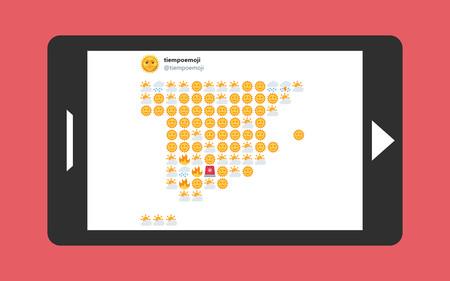 """Así es tiempoemoji, la cuenta de Twitter que te da la previsión del tiempo """"más milenial"""" para España con emojis"""
