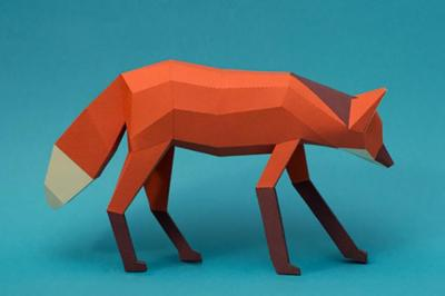 Geniales animales de papel del estudio creativo Guardabosques