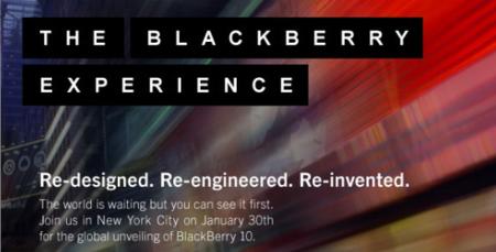 RIM envia las invitaciones para la presentación de BlackBerry 10.