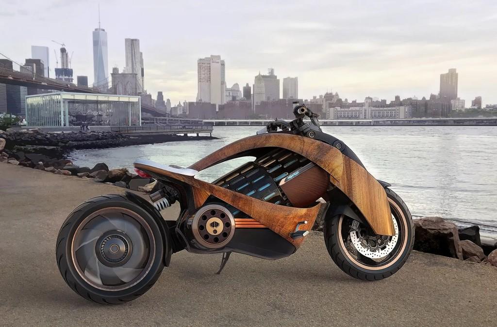 Esta espectacular moto eléctrica se puede recargar en 40 minutos, tiene una autonomía de 100% km  y llega a velocidades de 220 km/h