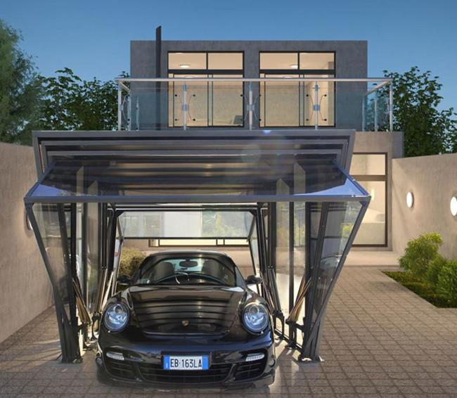 Con esta plaza de garaje luces coche y casa a la vez - Pergola para coche ...