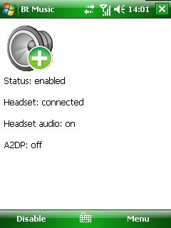 BtMusic, audio por bluetooth en Windows Mobile