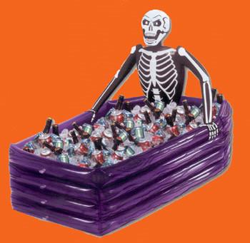 Halloween: Esqueleto y tumba hinchables