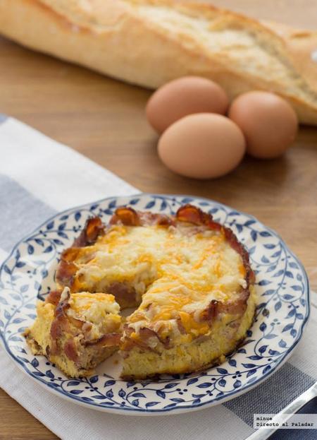 Tarta de desayuno inglés. Receta