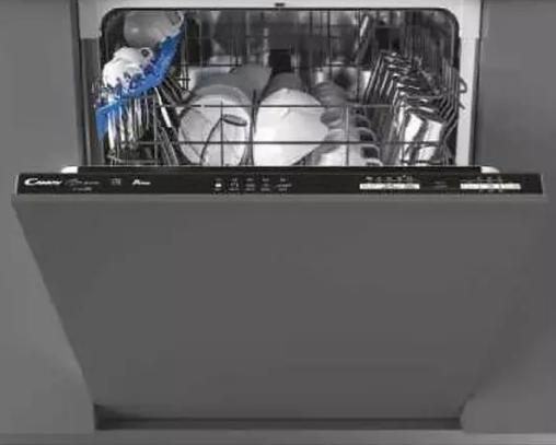Lavavajillas - Candy Brava CDIN1L380PB, 13 Servicios, 5 programas, WIFI, Ciclo rápido 39', 53dB, Inox