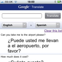 Google Translate en el iPhone