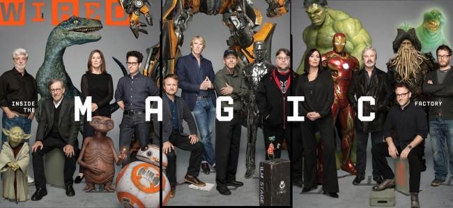 Cineastas que han trabajado con ILM y algunos personajes de la factoría