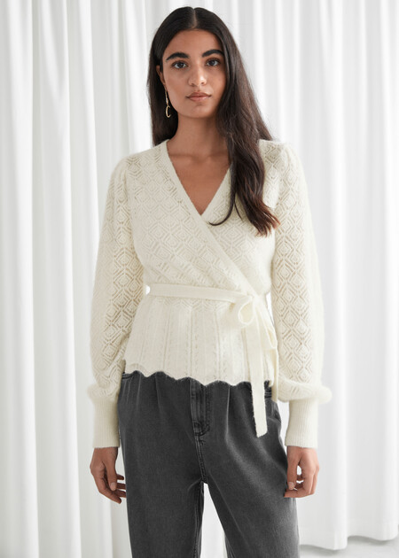 Other Stories Cardigans Blanco 01